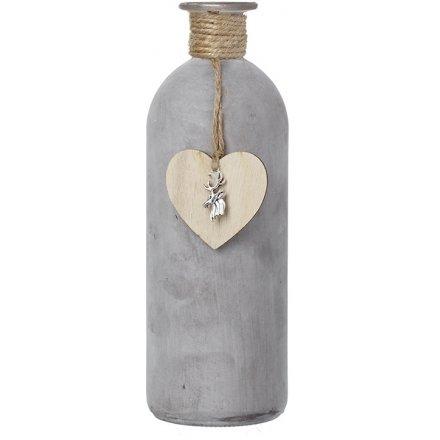 Rustic Decorative Bottle, 21cm