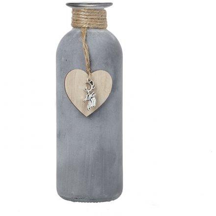 Rustic Decorative Bottle, 16.5cm