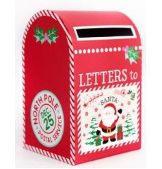Get your little ones to write out their letters to Santa and post them into this festive themed Post Box