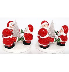 A festive themed assortment of Santa and Snowman Ring Displays, perfectly illuminated by an LED Tree centre