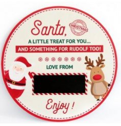 this Treat Plate is perfect for Santas Mince Pie and Rudolphs Carrot!