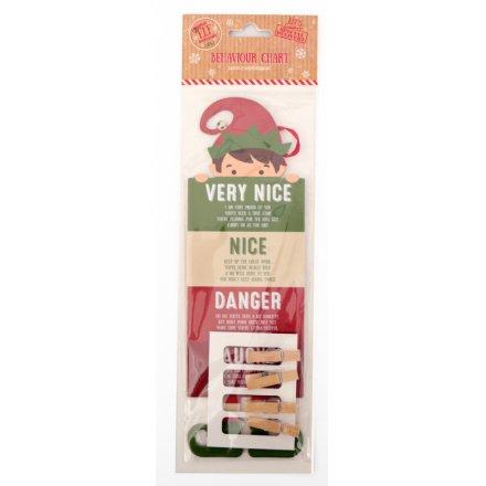 Christmas Naughty Or Nice Chart.Xelf0027 Elf Good Bad Peg Chart 45465 Christmas