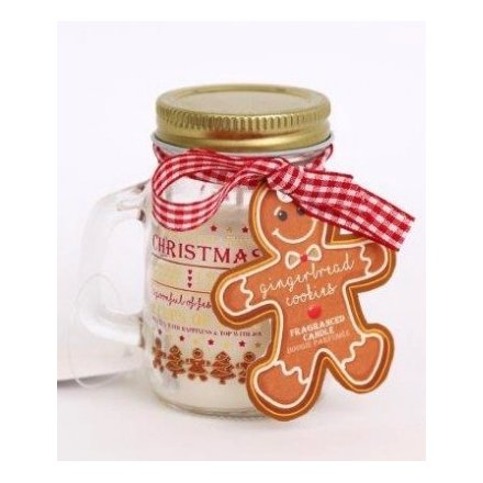 Small Gingerbread Mason Jar Candle