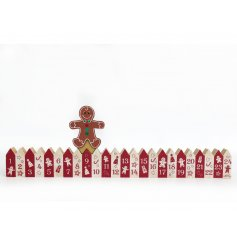 Countdown to Christmas with this jolly gingerbread man advent calendar.