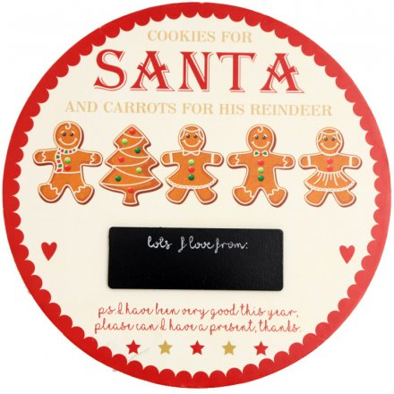 Gingerbread Santa And Reindeer Treat Plate
