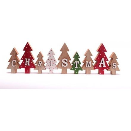 Wooden Christmas Sign 40cm