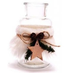 A charming Winter Woodland inspired glass bottle that will be sure to tie in with any rustic themed space