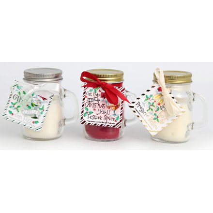Festive Tipple Scented Mini Candle Jars