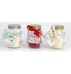 Get your Christmas feels on with these fun themed wax candles in assorted scents and styles,
