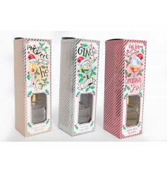A fun themed assortment of Christmas themed diffusers with added festive scents and packaging