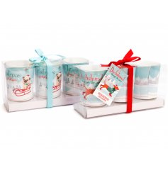 A fun 4 legged themed assortment of scented candle packs with added festive features and colours