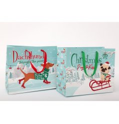 A fun 4 legged themed assortment of Gift Bags with added festive features and colours