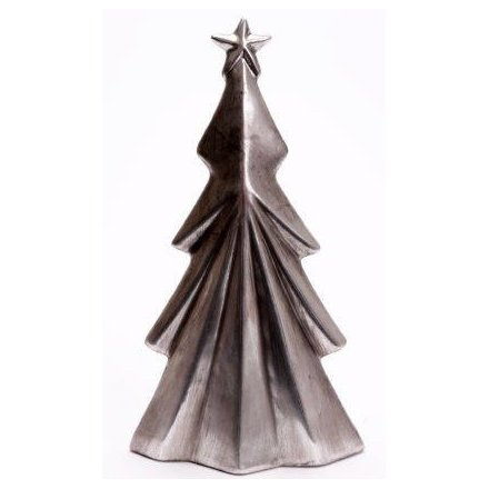 Tarnished Silver Tree Ornament, 21cm