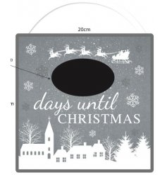Part of a delightfully festive range of homewares, this Count Down Chalkboard is a must have in any family home