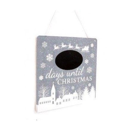 Snowglobe Christmas Countdown Chalkboard
