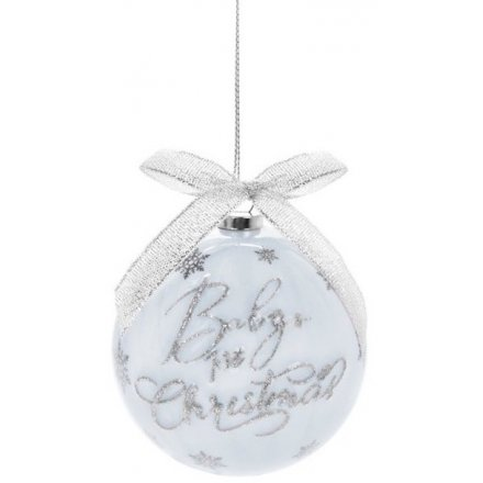 1st Christmas Blue Bauble