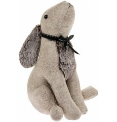 this cream toned faux leather rabbit doorstop will tie in with any themed space of the home