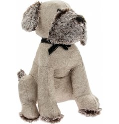 this cream toned faux leather dog doorstop will tie in with any themed space of the home