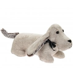 Compliment any Country Charm inspired home decor with this stylishly simple faux leather door stop with added faux fur