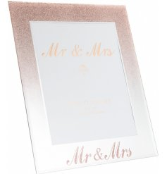 this beautiful mirrored picture frame will be sure to make a wonderful gift idea for any newly wed couple