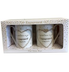 A Fine China Mug beautifully decorated with a silver foil spotted pattern, a charming scripted text and added diamonte h