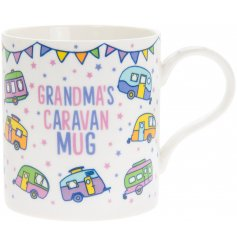 A charming and colourful themed Fine China Mug