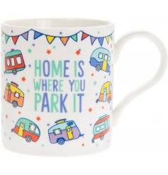 this charming fine china mug will be sure to make a great home feature in any caravan or mobile home!