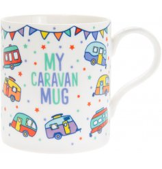 , this charming fine china mug will be sure to make a great home feature in any caravan or mobile home!