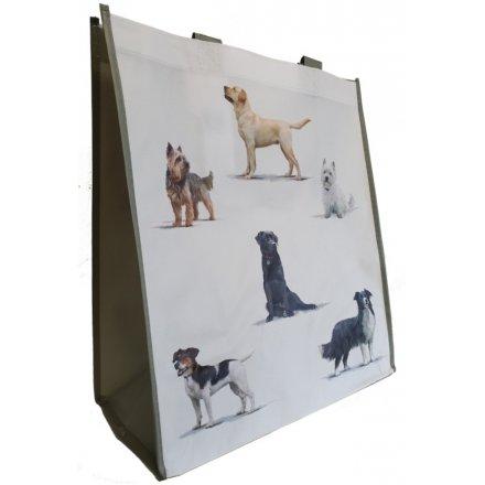 Dog Printed Shopper Bag 40cm