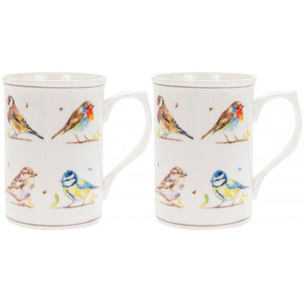 Mug Set 2, Country Birds