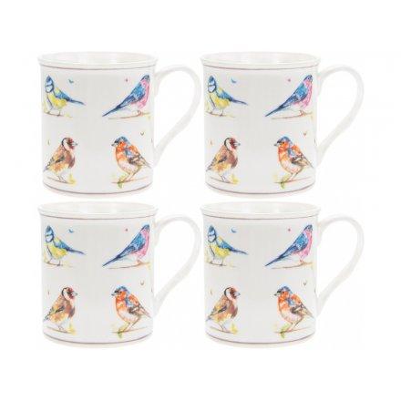 Country Life Birds Mug, S4