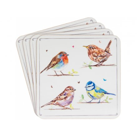Set of 4, Country Birds