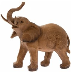 this beautiful standing elephant ornament will look perfect in any Country Charm themed home