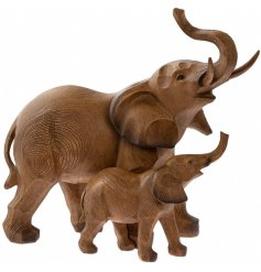 this beautiful standing elephant and baby ornament will look perfect in any Country Charm themed home