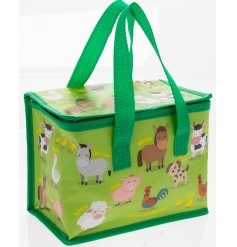 this little green edge fabric lunch bag will be sure to come in handy for any little one!