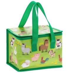 this fun farm animal covered lunch bag will be sure to keep your little ones entertained