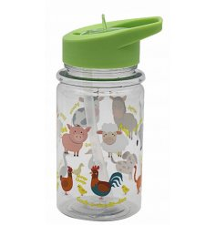 this fun farm animal covered bottle will be sure to keep your little ones entertained