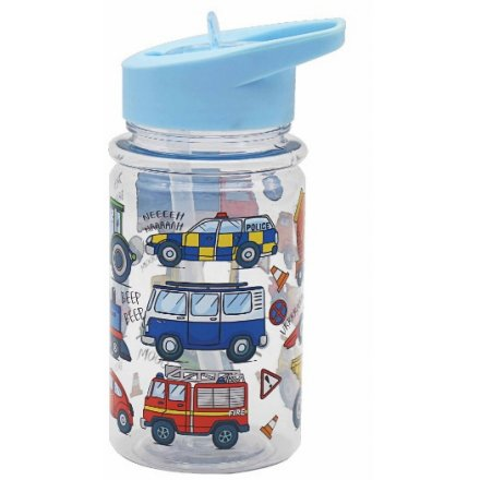 Colourful Vehicles Children's Drinking Bottle