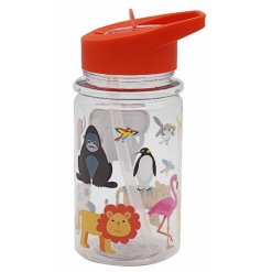 this little red lidded drinking bottle will be sure to come in handy for any little one!