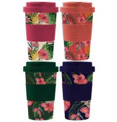 Bring a hint of the Tropics to any morning coffee or commute with this fabulous assortment of Bamboo Travel Mugs