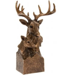 A great edition to the Reflections collection is this bust of bronzed stag and deer.