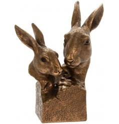 A fabulous edition to the Reflections collection is this set of bronzed hares.