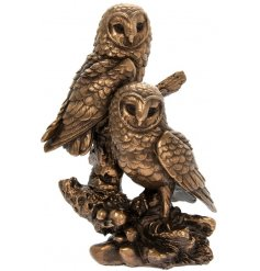 A fine quality textured Bronzed Owls from the Reflections collection.