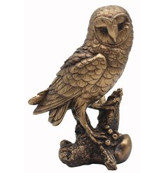 A fine quality textured Bronzed Owl from the Reflections collection.