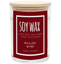 A Natural Wax made from soya beans combined with a delightfully festive fragrance creates this charming wax candle pot