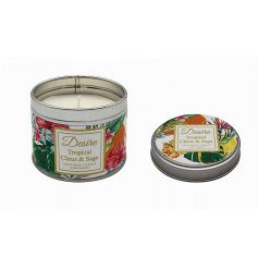 Part of a stylish new range of scented candles and gift sets is this sweetly scented Boutique Candle Tin