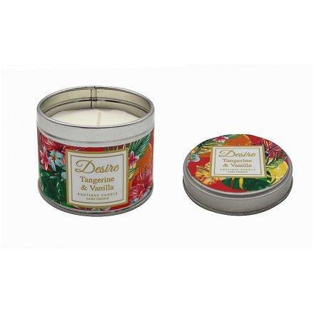 Tangerine & Vanilla Boutique Candle Tin