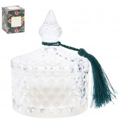 Bring a beautiful luxe touch to your home with this diamond ridge candle jar.