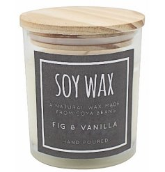A Natural Wax made from soya beans combined with a delightfully crisp fragrance creates this charming wax candle pot