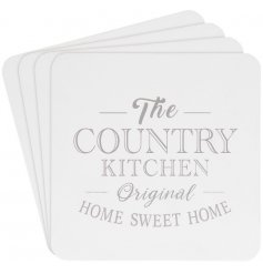 A set of 4 country living coasters. A shabby chic gift item and interior accessory.